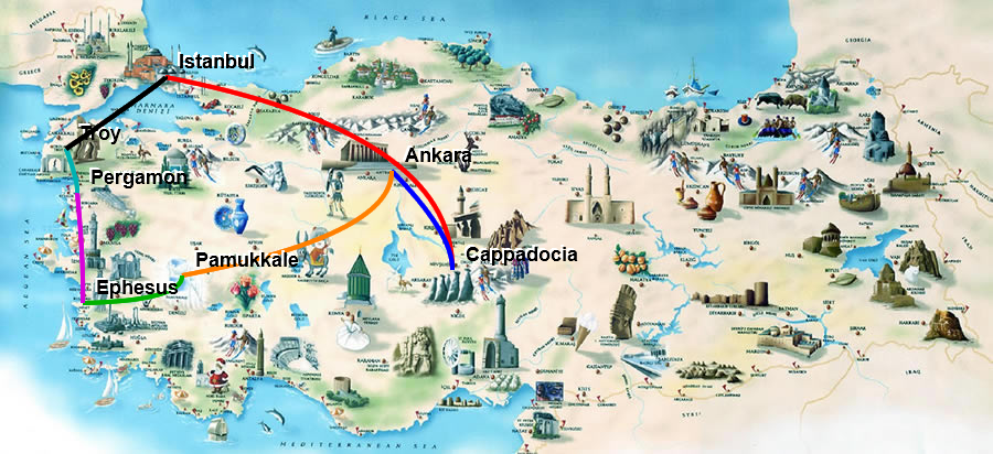 Central Anatolia and West Turkey Route