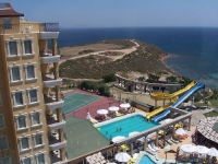 A view from the balcony of a hotel in Aydin.