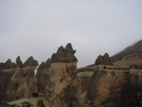 Beautiful rock formations of the nature in Cappadocia