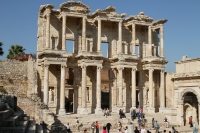 Library of Celsius in Ephesus Ancient City Turkey