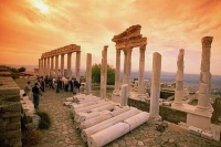 Ancient ruins in Pergamon City